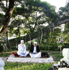 A Muslim Wedding held under the Raffles House