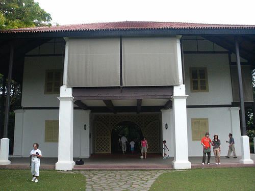 The bungalow. It is huge, and the balcony can be open for guests to view the wedding from the 2nd floor.
