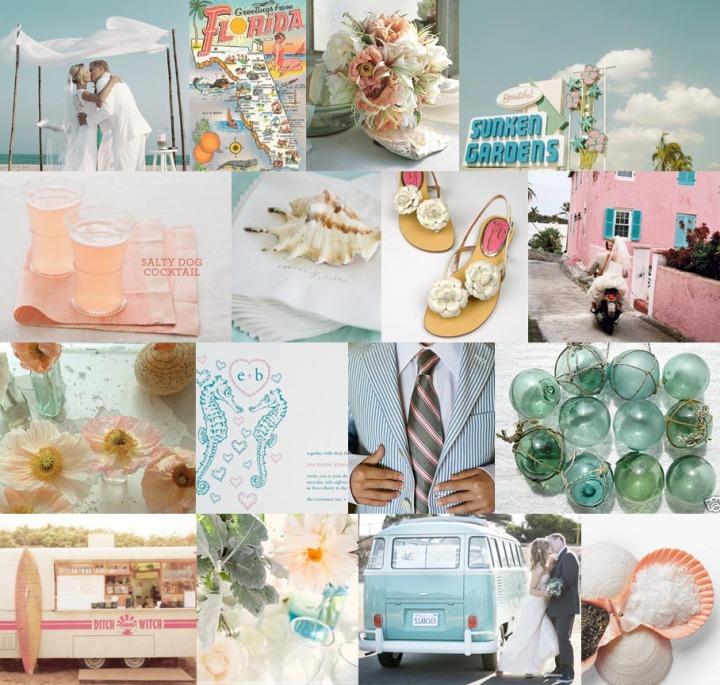 363-kitschy-key-west-bubble-gum-pink-aqua-blue-wedding-inspiration-board