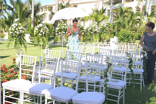 Actually I prefer wooden white chairs for my outdoor wedding