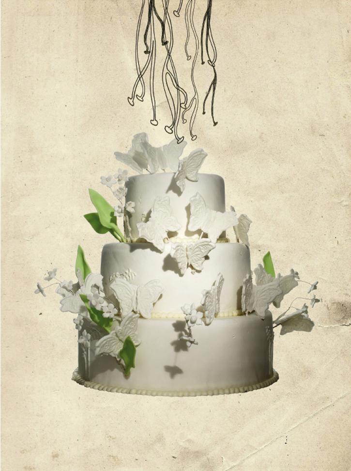 Martha Stewart Wedding Cake We Love Laugh Kiss