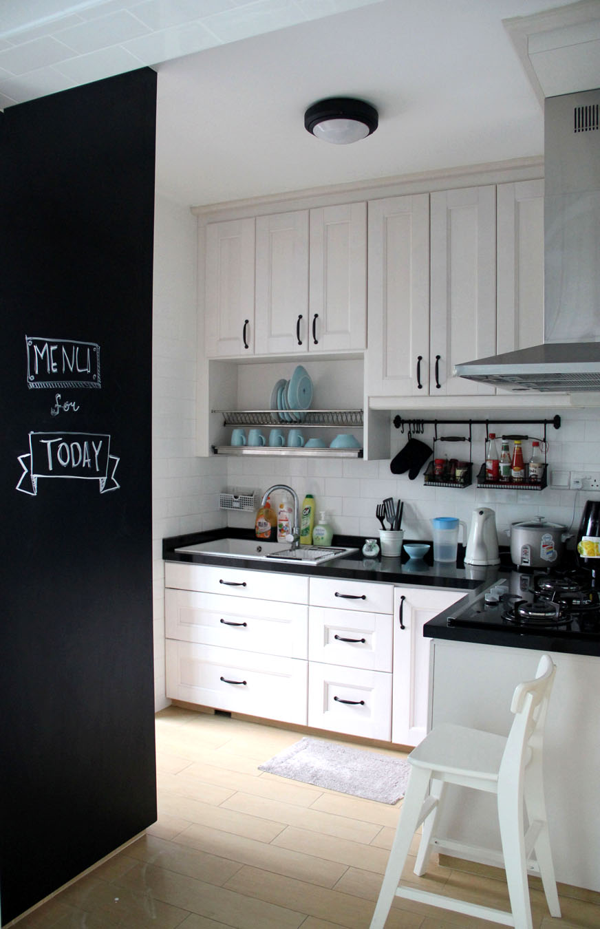 Interior design for our home - I Love Our Black White Kitchen And It Is So Ikea S Look I Asked My Interior Designer To Re Create The Base Structure Of The Cabinet Using Ikea S