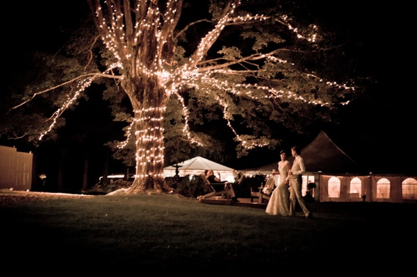 100-bride-groom-walking-tree-fairy-lights-reception-lit-up