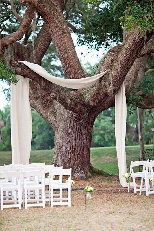 fabric-tree-wedding-ceremony-decor