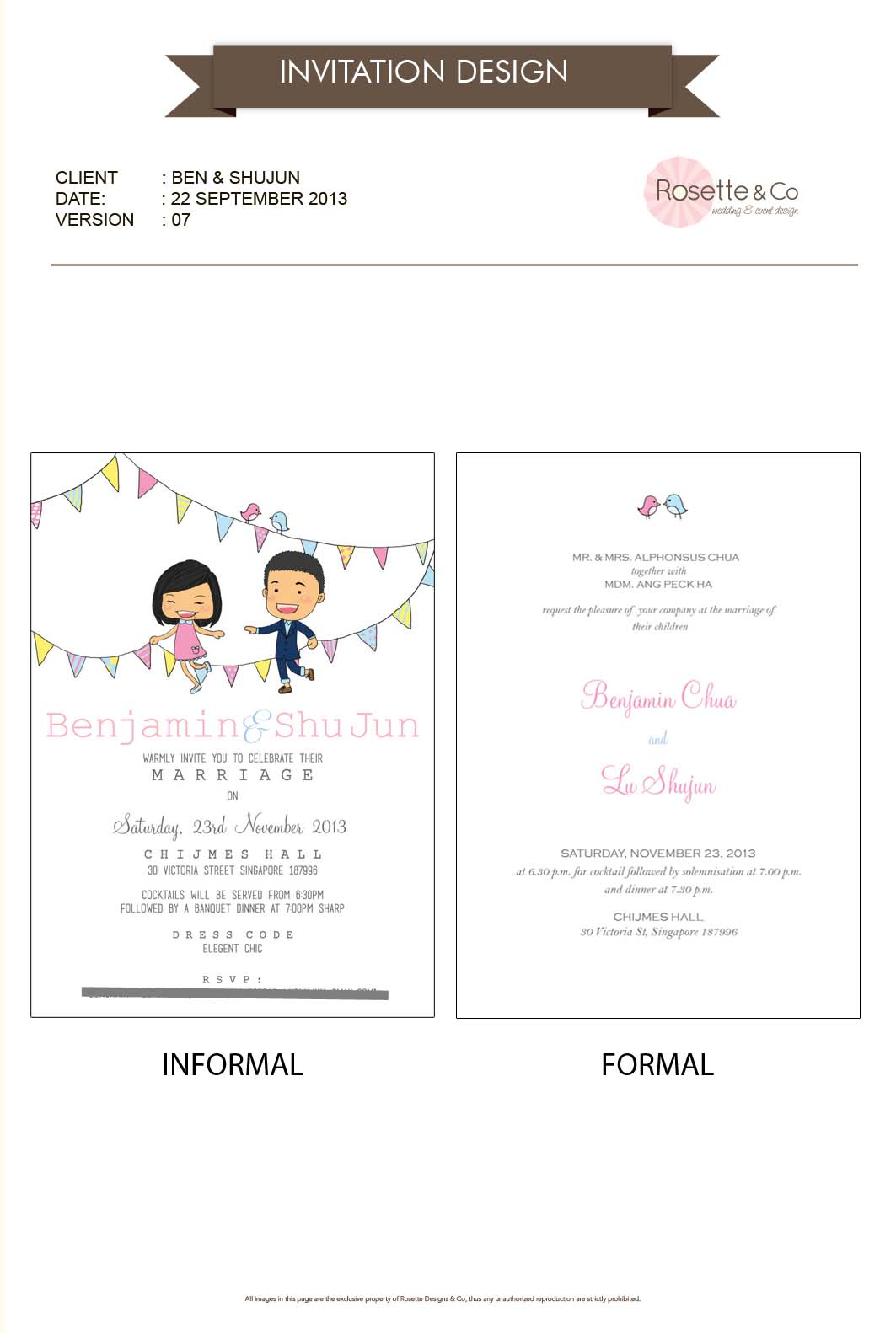 ... the icon for the invitation and stationery. The couple really love it
