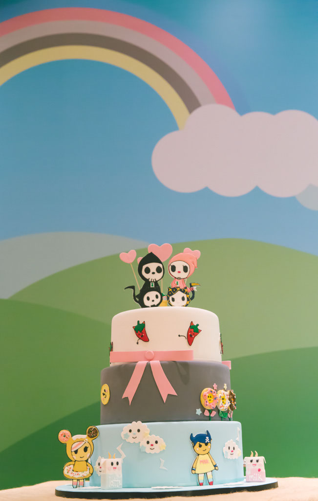 tokidoki wedding cake, three-tiered