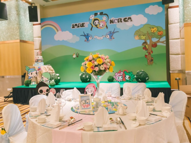 J&N tokidoki themed stage and VIP table