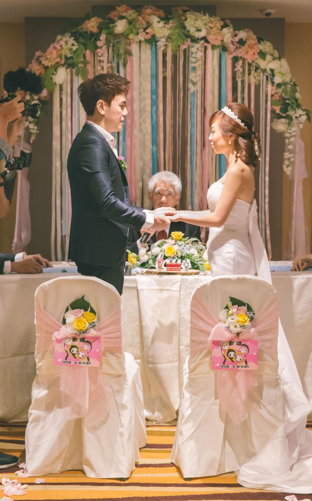 ROM wedding arc with ribbon streamers  pastel theme