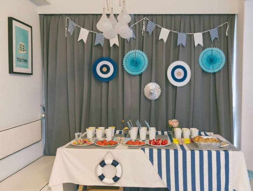 Nautical dessert bar