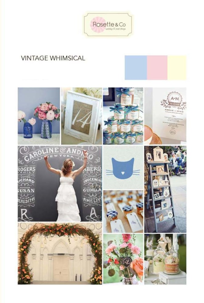 Inspiration mood board, Vintage whimsical