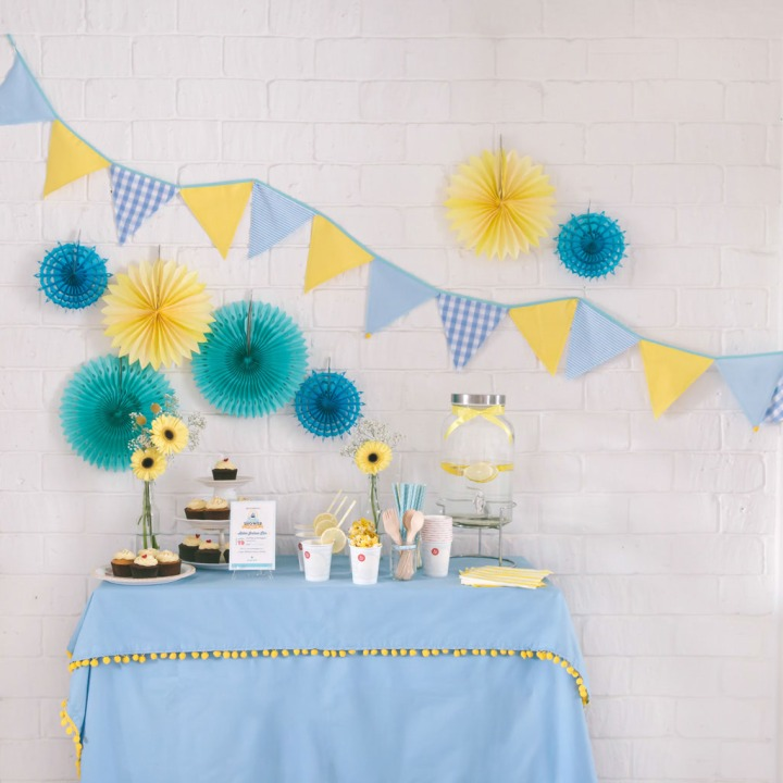 Rosette Little Precious - Blue and yellow nautical theme