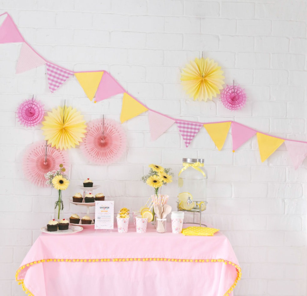 Rosette's Little Precious - pink and yellow floral theme