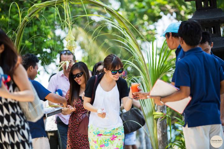 Nikoi Island: Welcome drink
