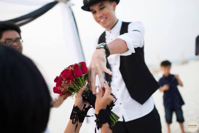 Nikoi Island: Beach Wedding Ceremony, Ring Exchange