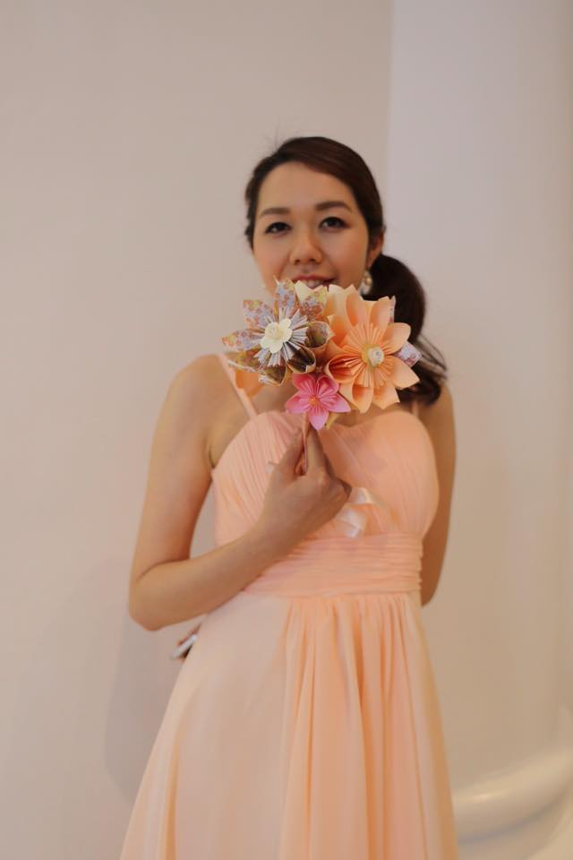 Bridesmaid paper flower bouquet
