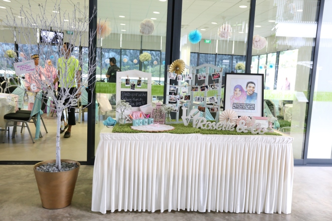 Photo gallery with hanging pictures and wishing tree
