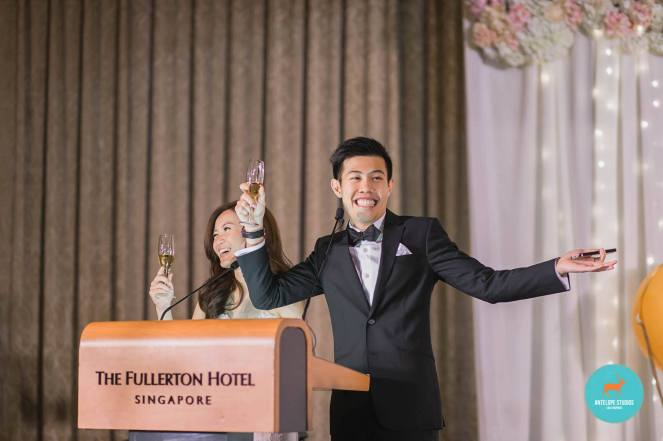 Fullerton Hotel, Couple's Thank you champagne toast