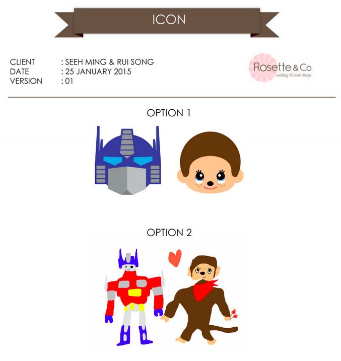 Icon design version 1 for Optimus prime and Monchhichi