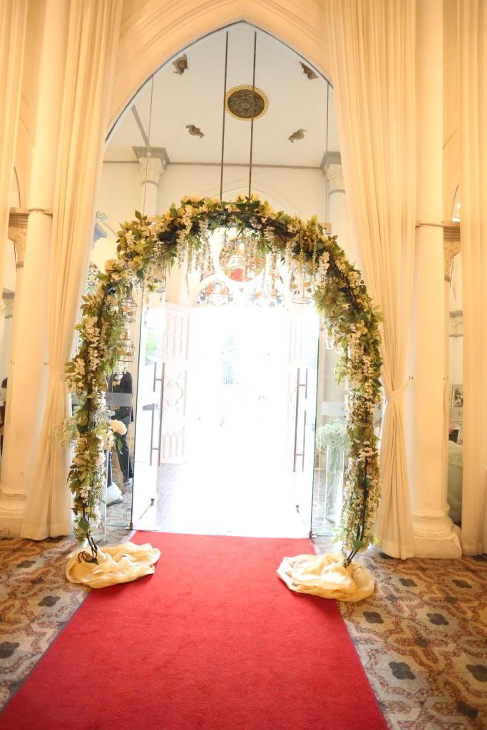 Wedding arch @ entrance