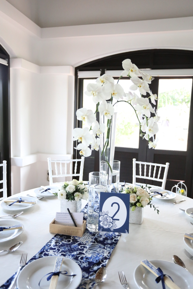Phalaenopsis centerpiece @ Raffles House
