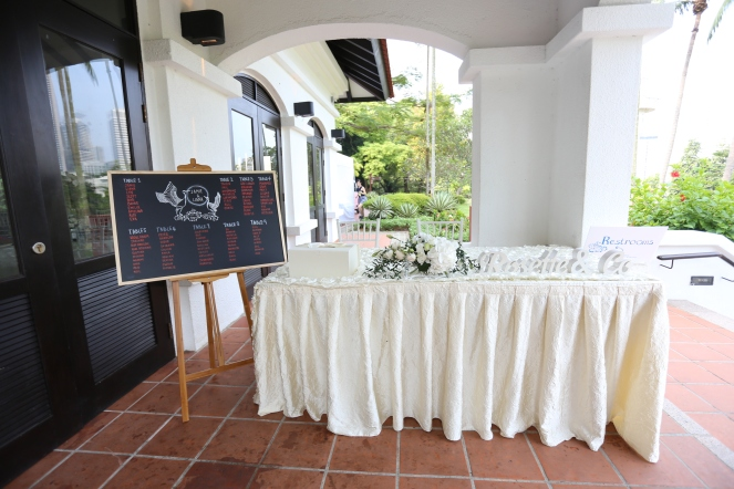 Reception table @ Raffles House