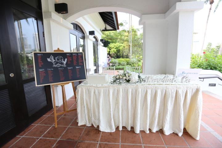 Reception table @ Raffles House