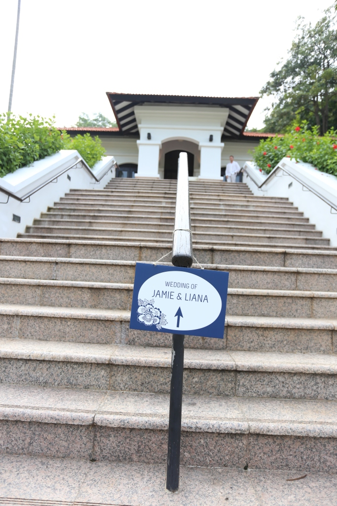 Steps leading up to Raffles House