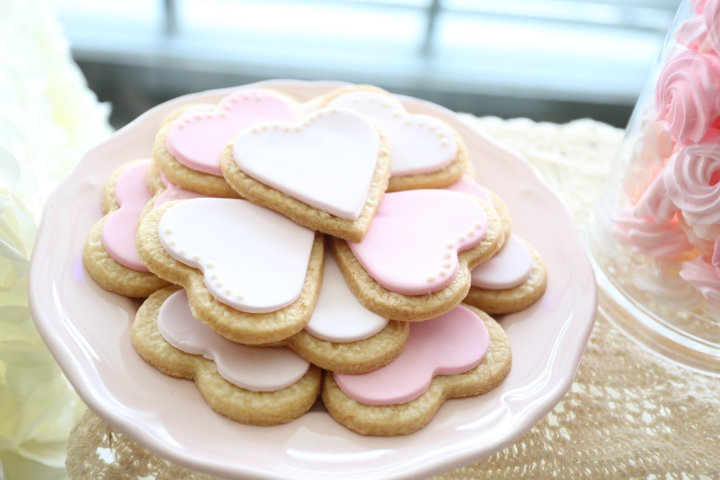 Heart-shaped cookies