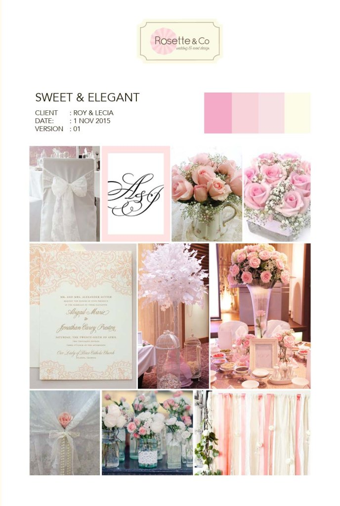 Lecia & Roy's Sweet Elegant Pink Inspiration Board