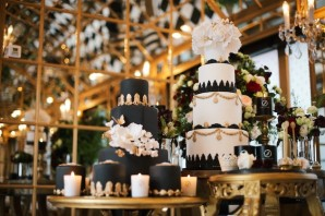 Have your dessert table done up in a variation of the theme's colours