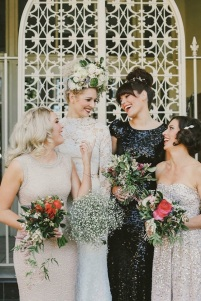 Switch things up with a glittery black gown instead of plain black